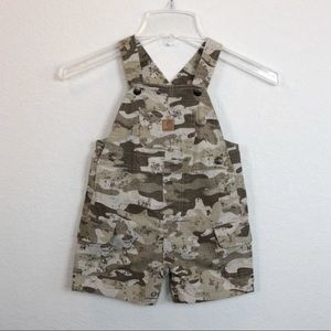 Carhartt Camo Short Overalls size 24 month unisex